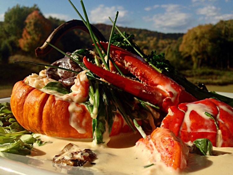 Pumpkin and Lobster Thermidor