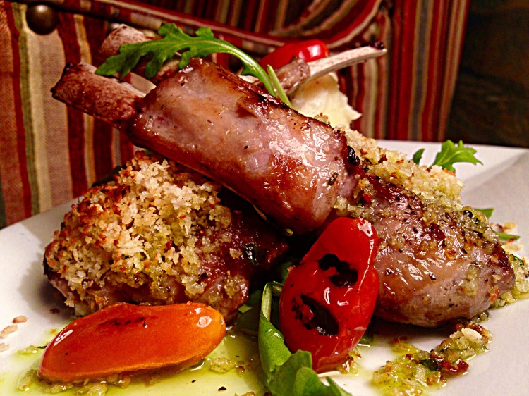 Horseradish Crusted Lamb Lollipops