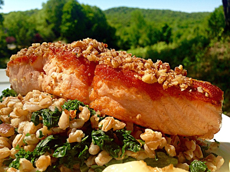 Pecan And Ginger Crusted Scottish Salmon