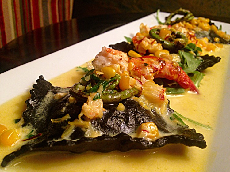 Squid Ink Lobster Ravioli