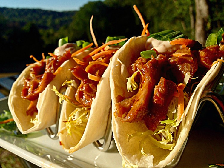 Cranberry-Apple & Chipotle Duck Tacos