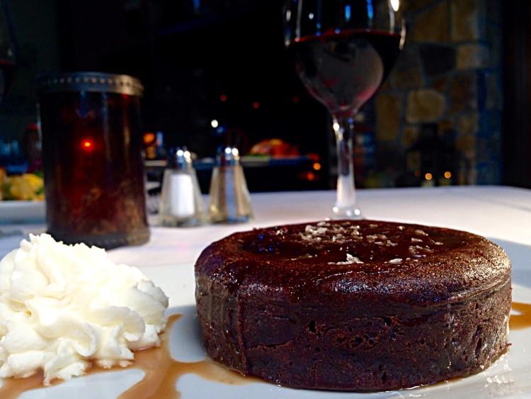 Sea Salt Dark Chocolate Molten Cake