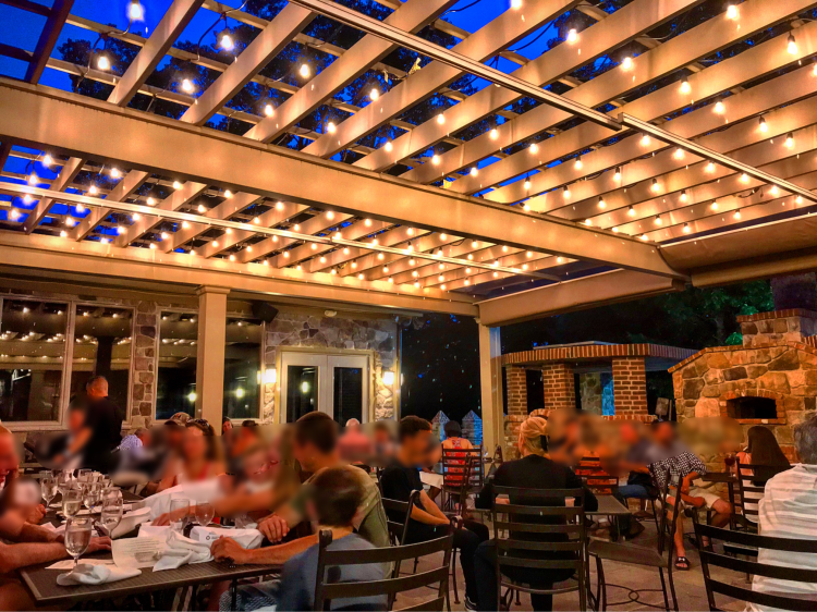 Dine under the stars on our outdoor patio